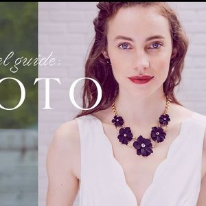 Chloe and Isabel Kyoto black flower necklace